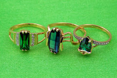 Elegant emerald  jewelry Royalty Free Stock Photography