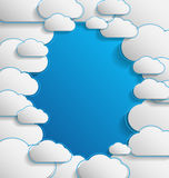 Elegant empty clouds on blue background Royalty Free Stock Image