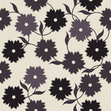 Elegant endless pattern with flowers Royalty Free Stock Photography