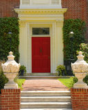 Elegant entrance. Beautiful home stock images