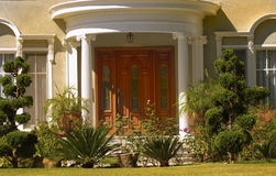 Elegant Entrance 30. Beautiful home in los angeles royalty free stock photography