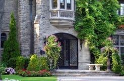 Elegant entrance with bay window Royalty Free Stock Photos