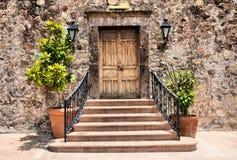 Elegant Entrance. Image of a house entrance at San Miguel de Allende, Guanajuato, Mexico royalty free stock photos