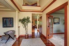 Elegant entry way to luxury home. Stock Photo