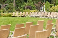 Elegant event in luxury garden. Royalty Free Stock Photos