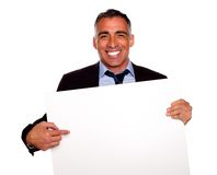 Elegant executive man smiling Royalty Free Stock Image