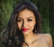 Elegant exotic beautiful young woman Royalty Free Stock Photos