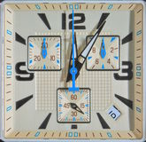 Watch the square face of time Royalty Free Stock Photos
