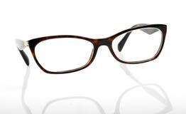 Elegant eyeglasses frame isolated on white. Background royalty free stock images