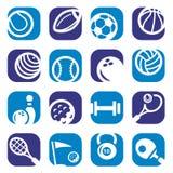Färga fastställda sportsymboler Royaltyfri Bild