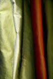 Elegant fabric background. Elegant and soft green and orange fabric background Stock Image