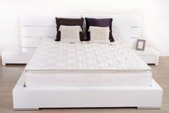 Elegant fancy white bedroom Stock Image