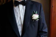 Elegant fashin stylish groom Royalty Free Stock Image