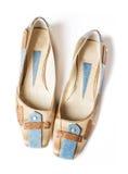 Elegant fashinable flat shoes Stock Photography