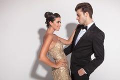 Elegant fashion couple embracing Stock Photography