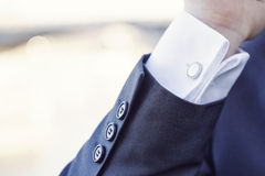 Elegant fashion cufflinks Stock Photography