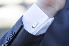 Elegant fashion cufflinks Royalty Free Stock Photography