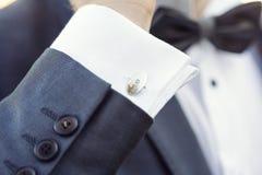 Elegant fashion cufflinks Royalty Free Stock Photos