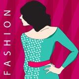 Elegant fashion girl Stock Images