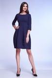 Elegant fashion glamour model pose for catalogue business style Stock Photos