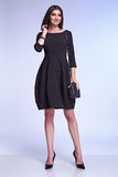 Elegant fashion glamour model pose for catalogue business style Royalty Free Stock Photography