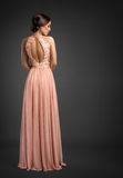 Elegant fashion  lady in evening dress Royalty Free Stock Images