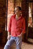 Elegant fashion man model. Royalty Free Stock Photo