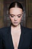 Elegant fashion model with make-up Stock Image