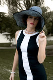 Elegant Fashion in the Park Stock Images