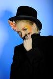 Elegant fashion woman with creative eye make-up Royalty Free Stock Photo