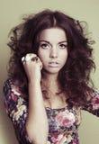 Elegant fashion woman face Royalty Free Stock Photos
