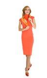 Elegant fashion woman standing Stock Image