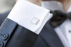 Elegant fashionable cufflinks Royalty Free Stock Photography