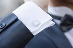Elegant fashionable cufflinks Stock Images