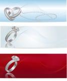 Elegant and fashionable white gold engagement ring Royalty Free Stock Image
