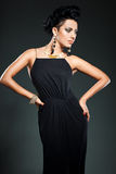 Elegant fashionable woman Royalty Free Stock Image