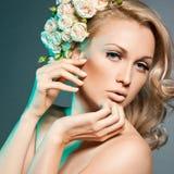 Elegant fashionable woman Stock Photos