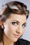 Elegant fashionable woman with jewelry Stock Photos