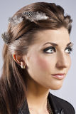 Elegant fashionable woman with jewelry Stock Photography