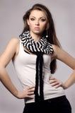 Elegant fashionable woman with long hair Stock Photos