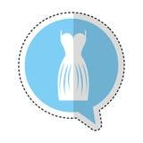 Elegant female dress icon Stock Image