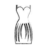 Elegant female dress icon Royalty Free Stock Photography