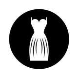 Elegant female dress icon Royalty Free Stock Photos