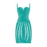 Elegant female dress icon Stock Photography