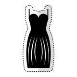 Elegant female dress icon Stock Photos