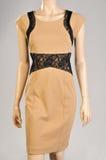 Elegant female dress mannequin. On gray background Royalty Free Stock Images