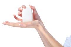 Elegant female hands holding soap bar Stock Photography