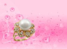 Elegant female jewelry ring Stock Photo