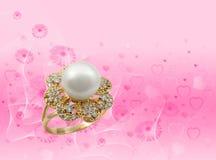 Elegant female jewelry ring stock photo