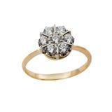 Elegant female jewelry rings Stock Photos